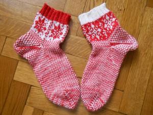 жаккардовые носки со снежинкой