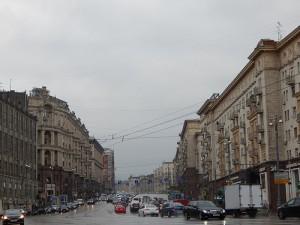 тверская улица в дождь