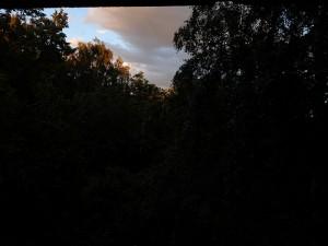 небо из форточки