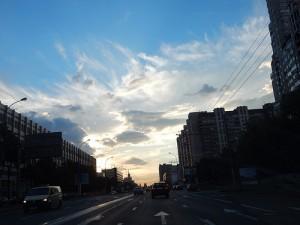 московское небо вечером