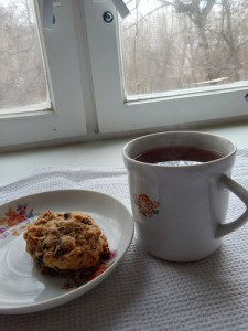 печенька и чай