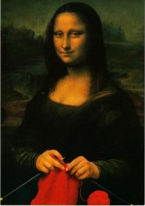 Мона Лиза вяжет