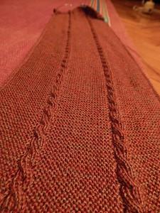 шарф со жгутами двусторонний