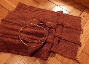 шарф с двусторонними жгутами