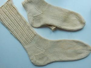 носки от мыска с квадратной пяткой наоборот