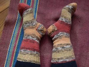 носки от мыска с пяткой задним числом