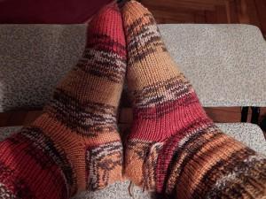 носки с пяткой задним числом полосатые