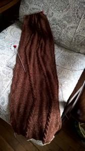 шарф в процессе
