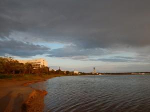 сакское озеро вечером