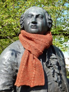 Ломоносов и двусторонний шарф со жгутами