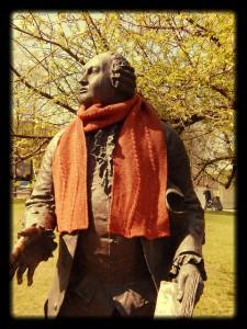 двусторонний шарф со жгутами