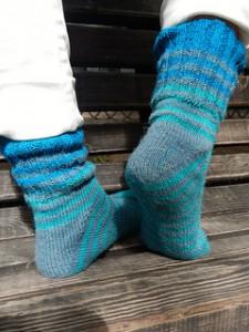 полосатые носки от мыска с пяткой флигля