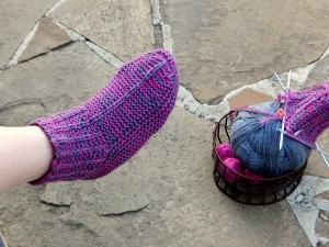 домашние носки-тапки