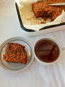 морковный кекс с изюмом и орехами | Хорошо.Громко.