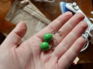 зелёные серёжки