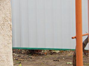 полосатый кот подглядывает под забором | HoroshoGromko.ru
