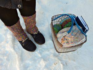 Воскресная зимняя вязальная фотография | HoroshoGromko.ru