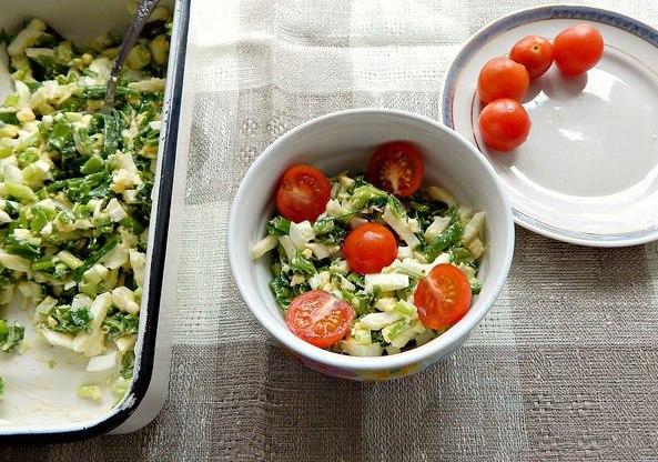 КВЗП: салат из зелёного лука с яйцом