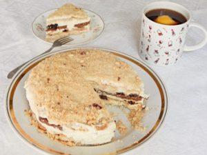 Торт из печенья с творожным кремом, без духовки | HoroshoGromko.ru