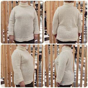 белый свитер с плечом-погоном | HoroshoGromko.ru